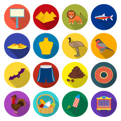 restaurant, nature, ecology and other web icon in flat style.entertainment, recreation, tourism icons in set collection.