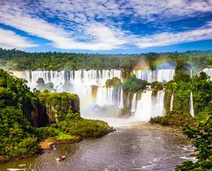 Incredible exotic waterfalls of Iguazu