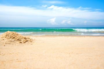 Empty beach and sea background