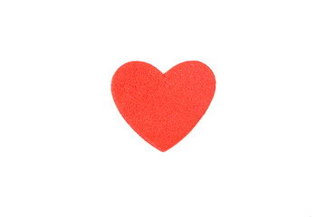 Foam heart shapes on white background as design for Valentine's Day.