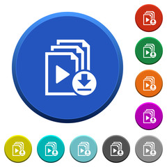 Download playlist beveled buttons