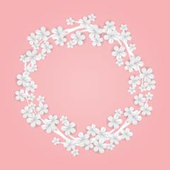 Happy Birthday sakura flower Frame