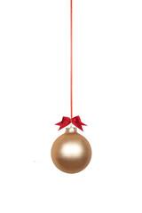 Weihnachtskugel goldfarben