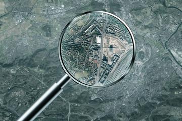 Luftbild Spionage Überwachung Beobachtung Stuttgart