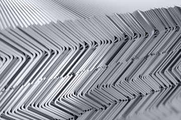 Rolled different metal profile product