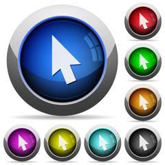 Mouse cursor round glossy buttons