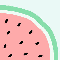 Abstract Watermelon Design