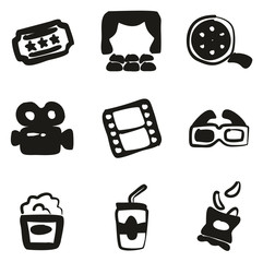 Cinema Icons Freehand Fill