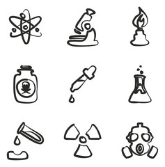Chemistry Icons Freehand