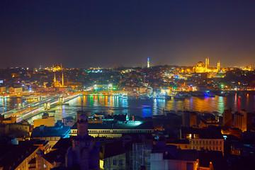 Night lights of Istanbul
