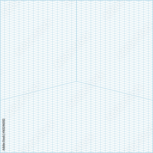 Wide Angle Isometric Grid Graph Paper Background Stock Image And