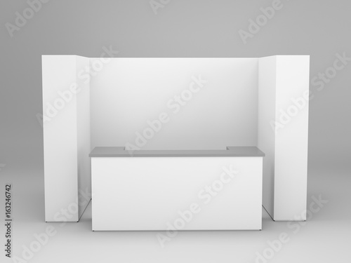 Simple booth or stand mock-up template