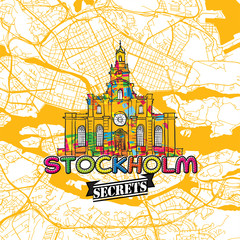 Stockholm Travel Secrets Art Map