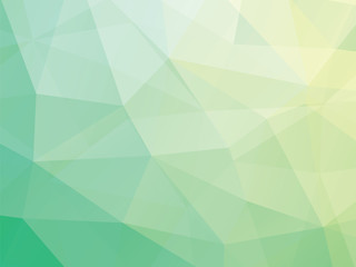 triangular green background