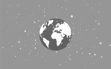 Earth globe abstract bokeh black background