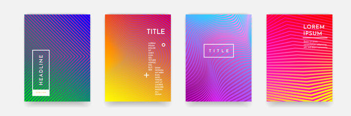 Abstract pattern texture book brochure poster cover gradient template vector set