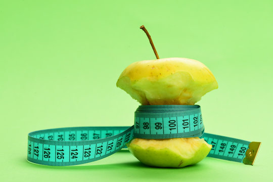 Concept of diet food, weight management and healthy nutrition