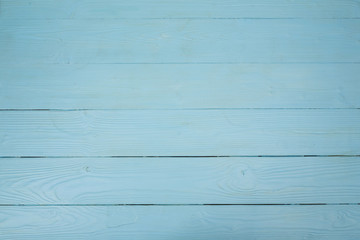Wooden blue background and texture, wooden boards