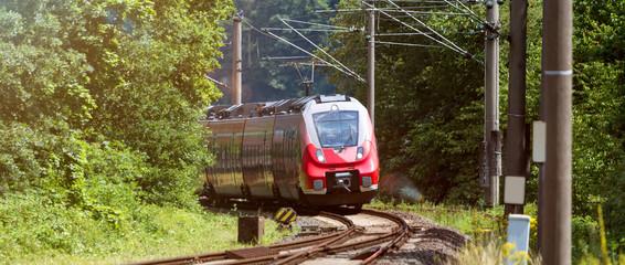 passenger train outdoors