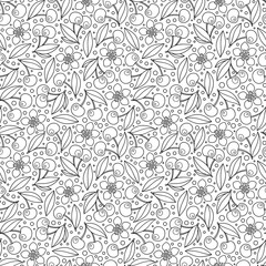 Seamless background in doodle style.