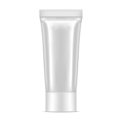 vector white realistic tube