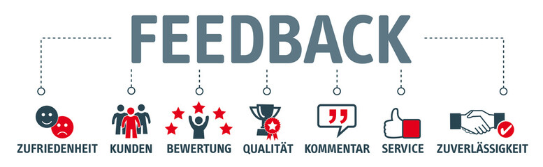 Banner Feedback mit icons