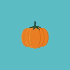 Flat Icon Pumpkin Element. Vector Illustration Of Flat Icon Gourd Isolated On Clean Background. Can Be Used As Gourd, Pumpkin And Squash Symbols.
