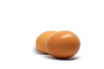 Egg on white backgroung.