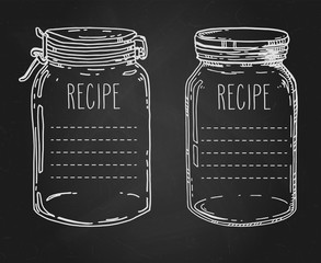 Hand drawn jars recipe template