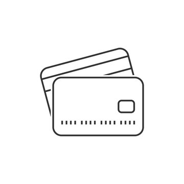 Credit card outline icon