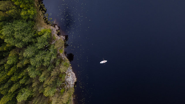 A rowing boat on a Finish lake