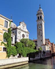Wall Mural - Venice - Falling campanile in Venice