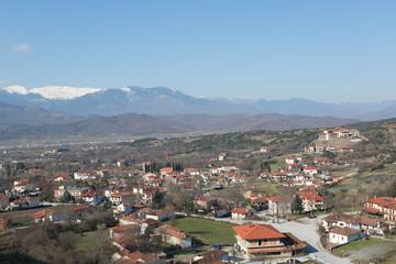 Panorama of Kalambaka in the Meteora region, Greece