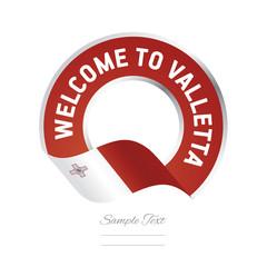 Welcome to Valletta Malta flag logo icon