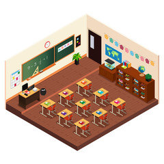 Isometric of a Elementary School Classroom