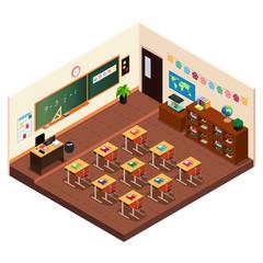 Isometric of a Elementary School Classroom