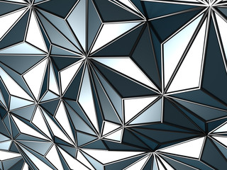 Blue abstract low poly pattern wall background