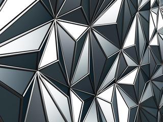 Black metallic industrial triangular abstract background