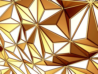Golden chaotic poligons pattern background