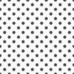 Black stars seamless pattern