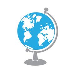 Globe icon isolated.