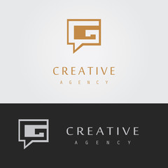 chat letter G logo