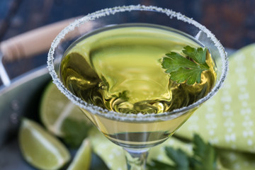 Lime Cilantro Martini