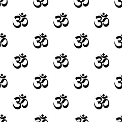 Om Seamless Pattern Vector