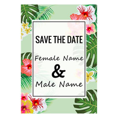 summer floral save and date