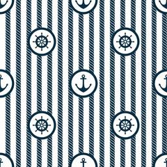 Nautical Marine Seamless Pattern Vector