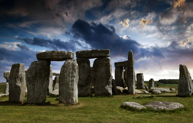 Stonehenge bei Amesbury in Wiltshire, England