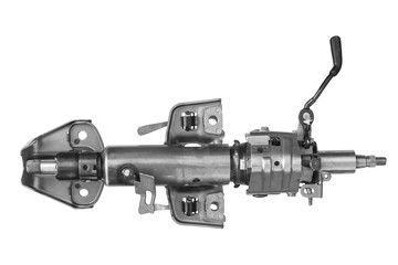 Steering column on a white background