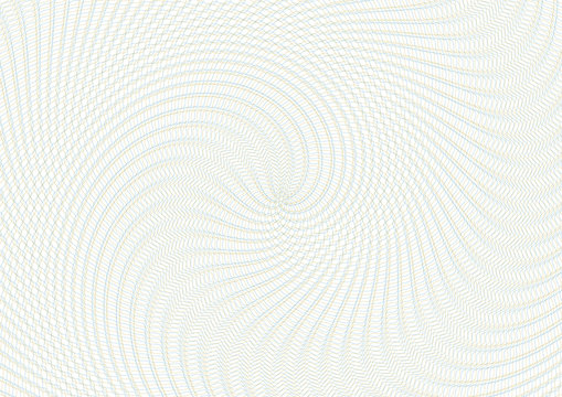 Guilloche vector background grid. Moire ornament texture with waves. Pattern for money warranty, certificate, diploma