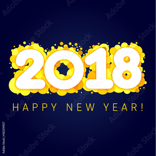 2018 happy new year golden blister numbers happy holidays card with 2018 happy new year golden blister numbers happy holidays card with vector figures 2018 on m4hsunfo